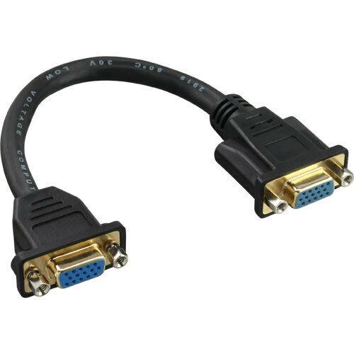 InLine VGA Adapterkabel 15pol 0,2m VGA Buchse auf Buchse zum Einbau verg