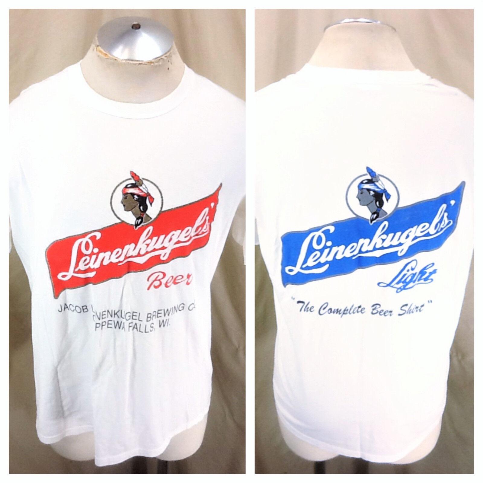 Vintage 90's Leinenkugel's Beer (XL)  Complete Beer Shirt  Retro Graphic T-Shirt