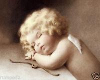Vintage Poster/print - Bessie Pease Gutmann / Sleeping Angel/ '16x20 In