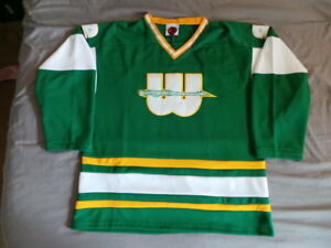 low priced a4f41 6d346 Details about K1 Vintage New England Hartford Whalers Jersey L Large NEW  NWOT WHA RARE Howe