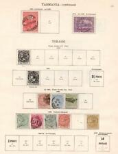 TOBAGO/TOGO: 1880 1915 Examples Ex Old Time Collection 2 Sides Page (33130)