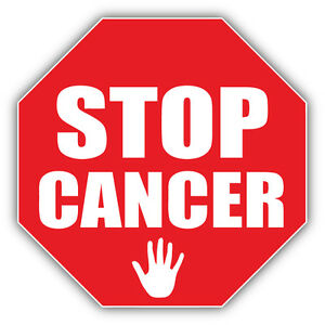 Stop Cancer Sign Car Bumper Sticker Decal 5'' x 5'' | eBay