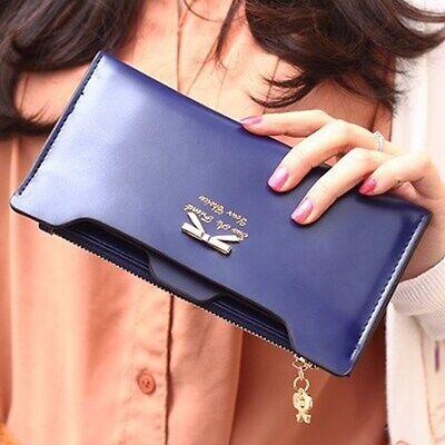 New Fashion Women Lady Leather Clutch Wallet Long Card Holder Case Purse Handbag