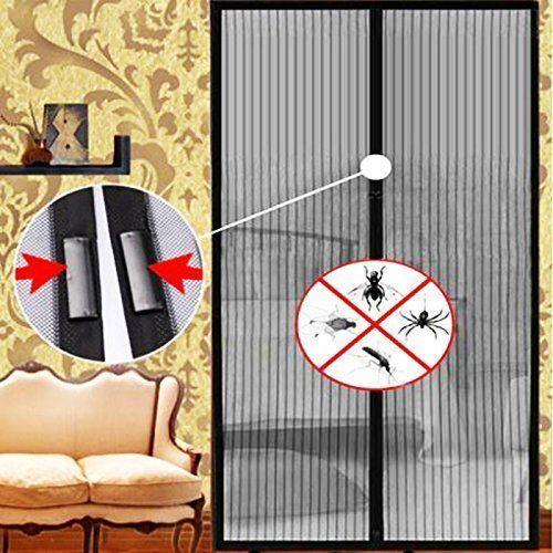 2x Auto Mesh Hands-Free Screen Door Mesh Magnets Anti-bug fly NO BOX