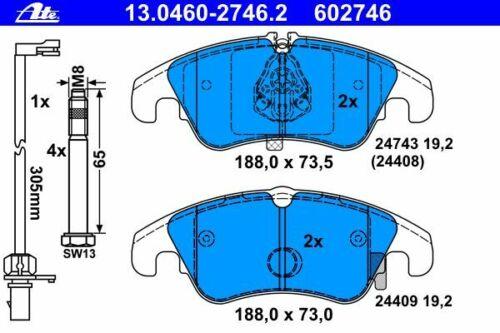 a5 8t 8f anche AVANT SPORT BACK Allroad ATE Pastiglie Freno anteriore AUDI a4 8k b8