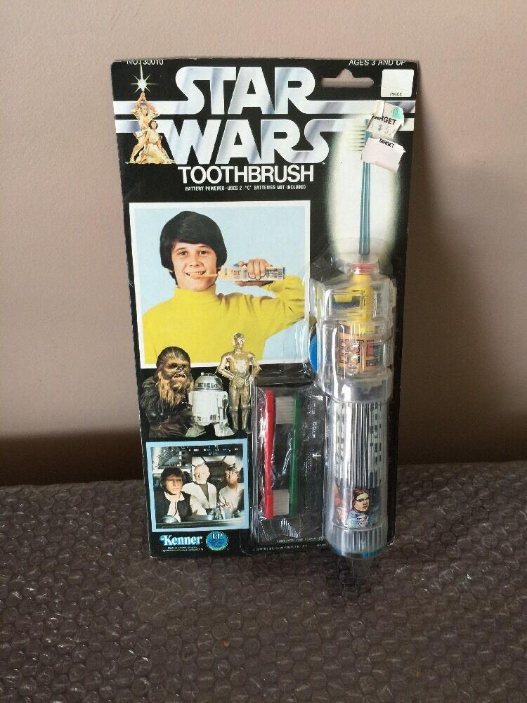 más vendido Vintage Vintage Vintage 1977 KENNER Estrella Wars Raro Cepillo de dientes eléctrico conjunto menta en la tarjeta  mejor marca