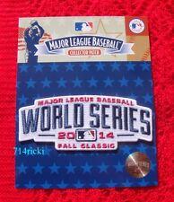 Official 2014 MLB World Series San Francisco Giants vs Kansas City Royals Patch