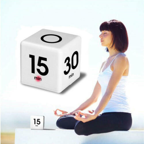 Cute Multi-functional Timer Cube 5//15//30//60 Minutes Kids Management Timer PQS