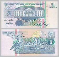 Surinam / Suriname 5 Gulden 1996 p136b unz.