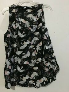 Floral maat Francisco Old Stijlvol dames Navy San Hawaii Blouse L Top AUqt7qw