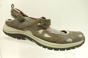 Merrell-Brown-Leather-Mesh-Mary-Jane-Strap-Casual-Walking-Shoes-Women-039-s-10
