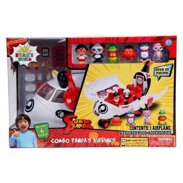 Ryan mundo Combo Panda avión Set con 6 figuras