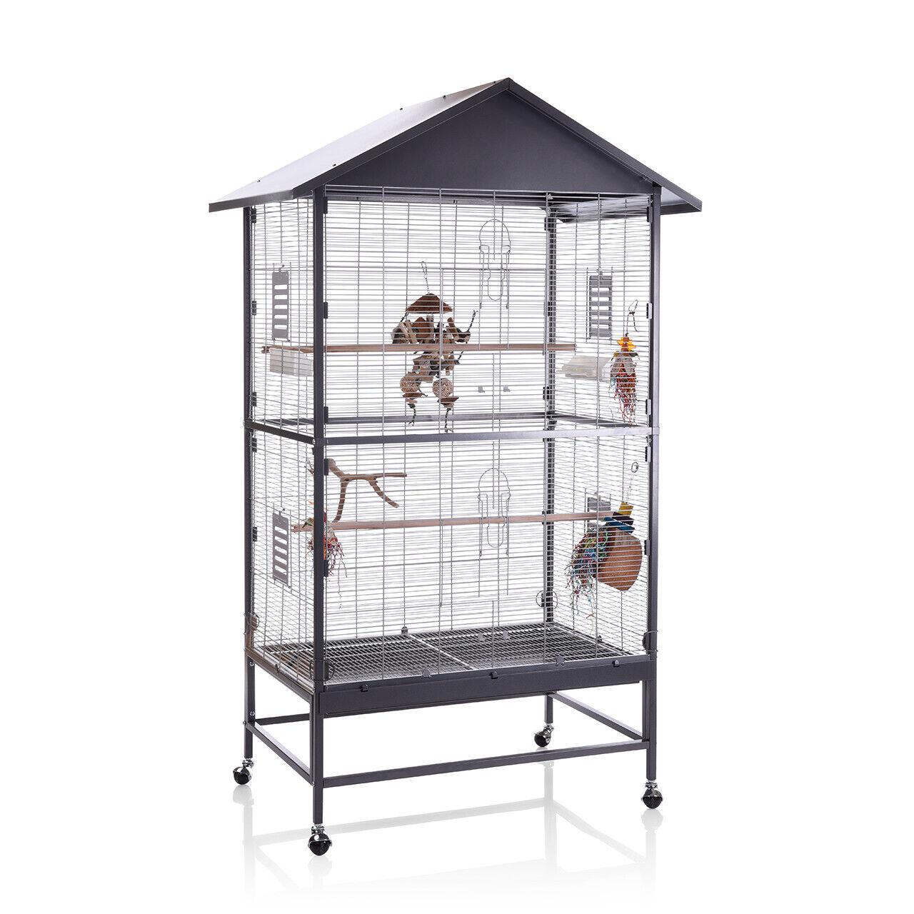 Voliere Villa Casa 90 Zimmervoliere Vogelkäfig Käfig für Wellensittiche Kanarien