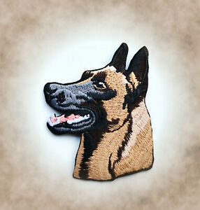 Malinois-Aufnaeher-Patch-Belgischer-Schaeferhund-IPO-Hundesport-Badge