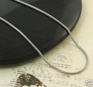 0.9mm-2.4mm 16, 18, 20, 22, 24, Silver Stainless Steel Snake Chain, USA!