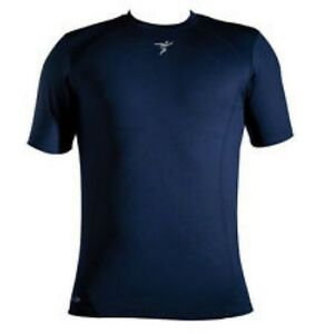 Base-Layer-Long-Sleeve-T-Shirt-Large-Navy-Blue-42-44-034-Football-Rugby-Warm-under