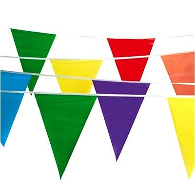 100' Multi Color Flag Pennant Banner Party Decor Birthday Party Garage Sale