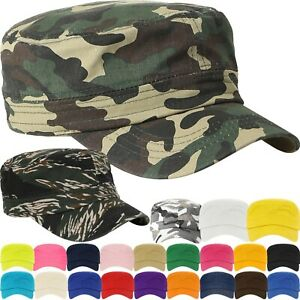 Details about Military Hat Army Cadet Patrol Castro Cap Men Women Golf  Baseball Summer Castro