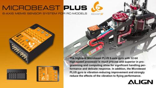 hegbp 301 T Microbeast PLUS version 5 Flybarless System beastx