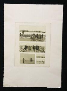 Friedrich einhoff, esperti in loco, acquaforte, 1980, firmato a mano