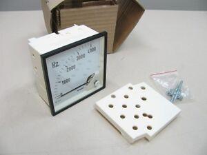 Indicador-de-rotacion-Reloj-HZ-Hertz-4000Hz-95x95-mm-hierro-giratorio-NUEVO