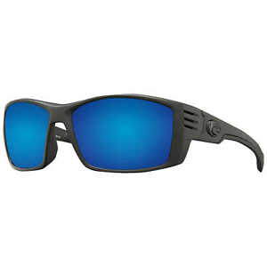 f5cc60c5bc6 Costa Del Mar Cortez Sunglasses Blackout Frame 580p Blue Mirror Lens  CZ01OBMP