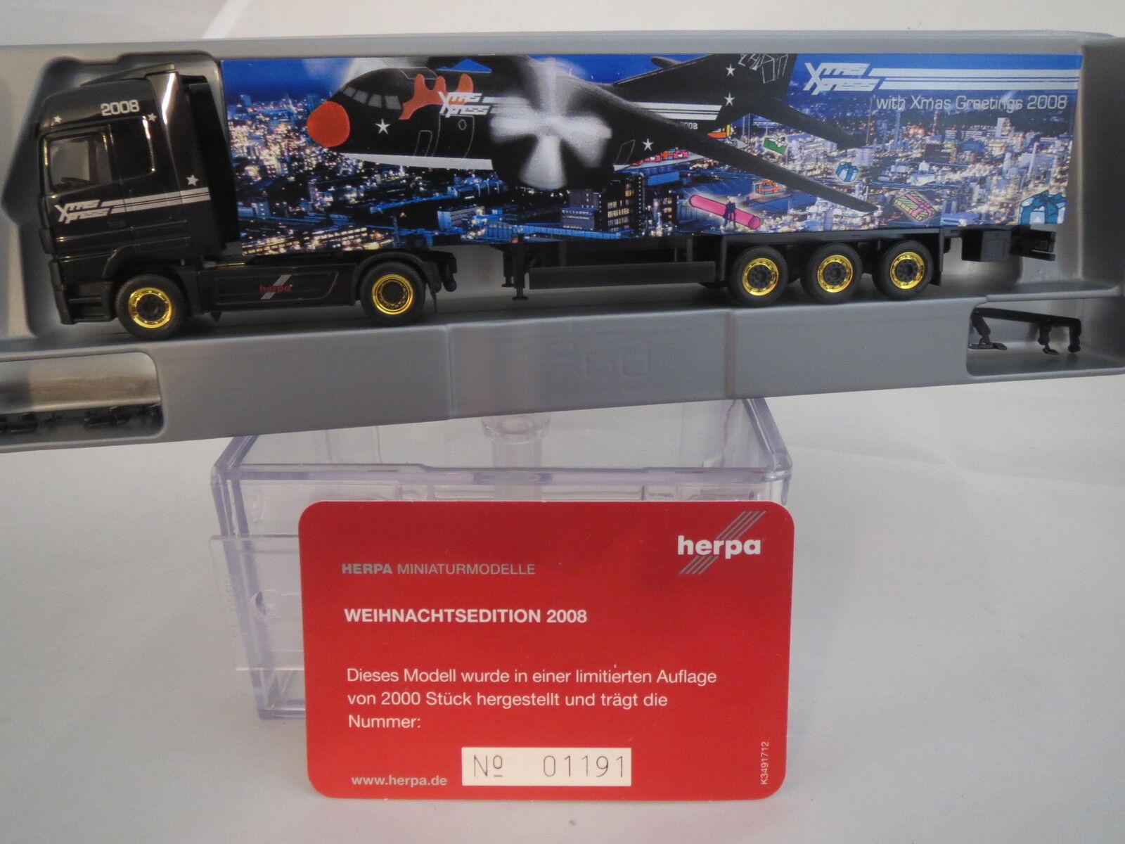 Herpa MB Exclusive Series  Weihnachtsedition  08 Nr.01191  1 87  TOP & OVP  | Bekannt für seine schöne Qualität