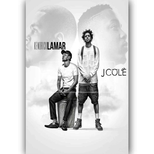 Custom Silk Poster Kendrick Lamar and J Cole Wall Decor
