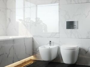White Marble Effect High Gloss Porcelain Tiles 80x80 Wall Floor Kitchen Bathroom Ebay