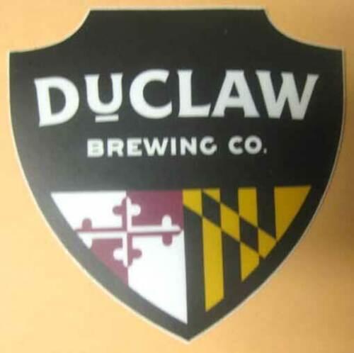 MARYLAND 2 15//16 X 3 Beer chevron STICKER Baltimore DUCLAW BREWING CO.