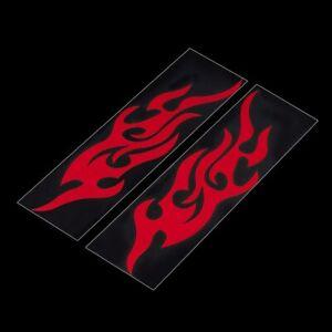 2x-Flammen-Tribal-Sticker-Aufkleber-Auto-Motorrad-Dekor-Flamme-Flames-rot-racing
