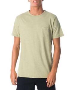 Rip-Curl-PLAIN-SLUB-TEE-Mens-Crew-Neck-Casual-T-Shirts-New-CTEMW2-Washed-Olive
