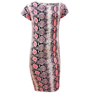 15888998dbd NEW GIRLS KIDS SNAKE PRINT SUMMER MIDI BODYCON DRESS AZTEC AGE 7 8 9 ...