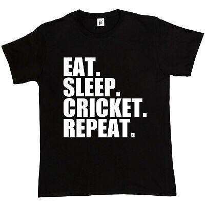 Eat Cricket Repeat Sleep Bowler Batter Ashes Mens T-Shirt