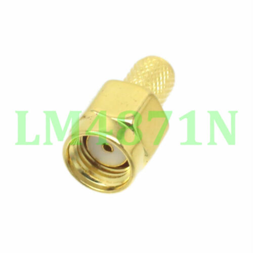 10pcs Connector RP.SMA male jack crimp RG58 RG142 LMR195 RG400 cable straight