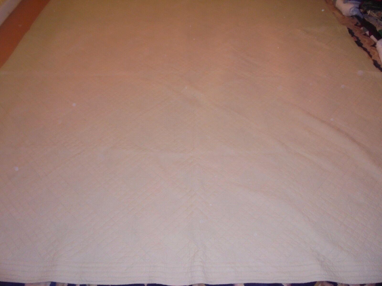 Nice Handmade Sage Grün Whole Cloth Quilt