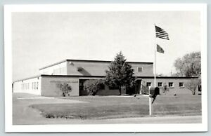 Philips-Wisconsin-Mailbox-Floodlights-amp-Flags-National-Guard-Armory-RPPC-1960