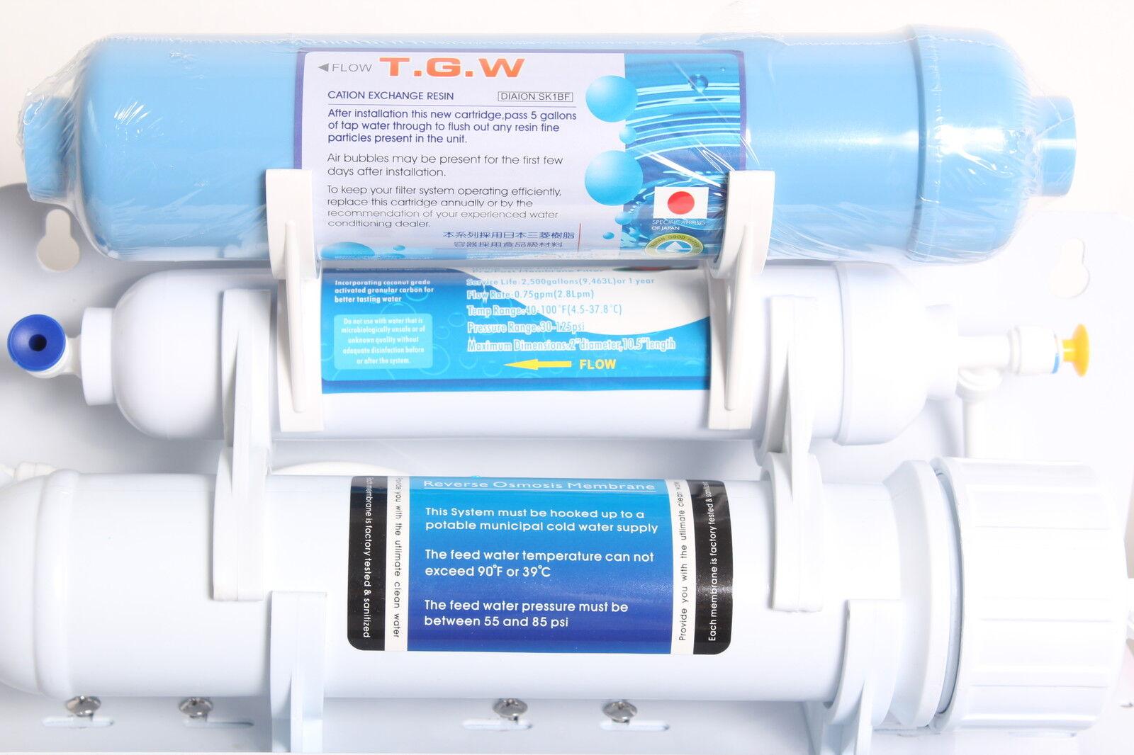6 stufige Umkehrosmose Osmose Osmoseanlage RO50 -07 50G mit Ionen Ionen Ionen Harz Filter 495876