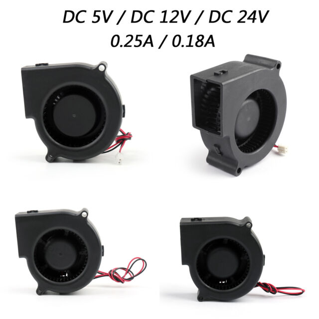 Brushless DC Cooling Blower Fan 5V 7530S 75x75x30mm 0.18A Sleeve 2 Pin Wire USA