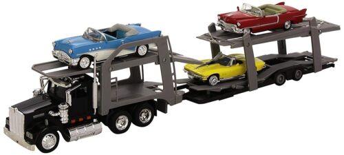 KENWORTH avec 3 véhicules vintage NEW15215 Camion porte voitures