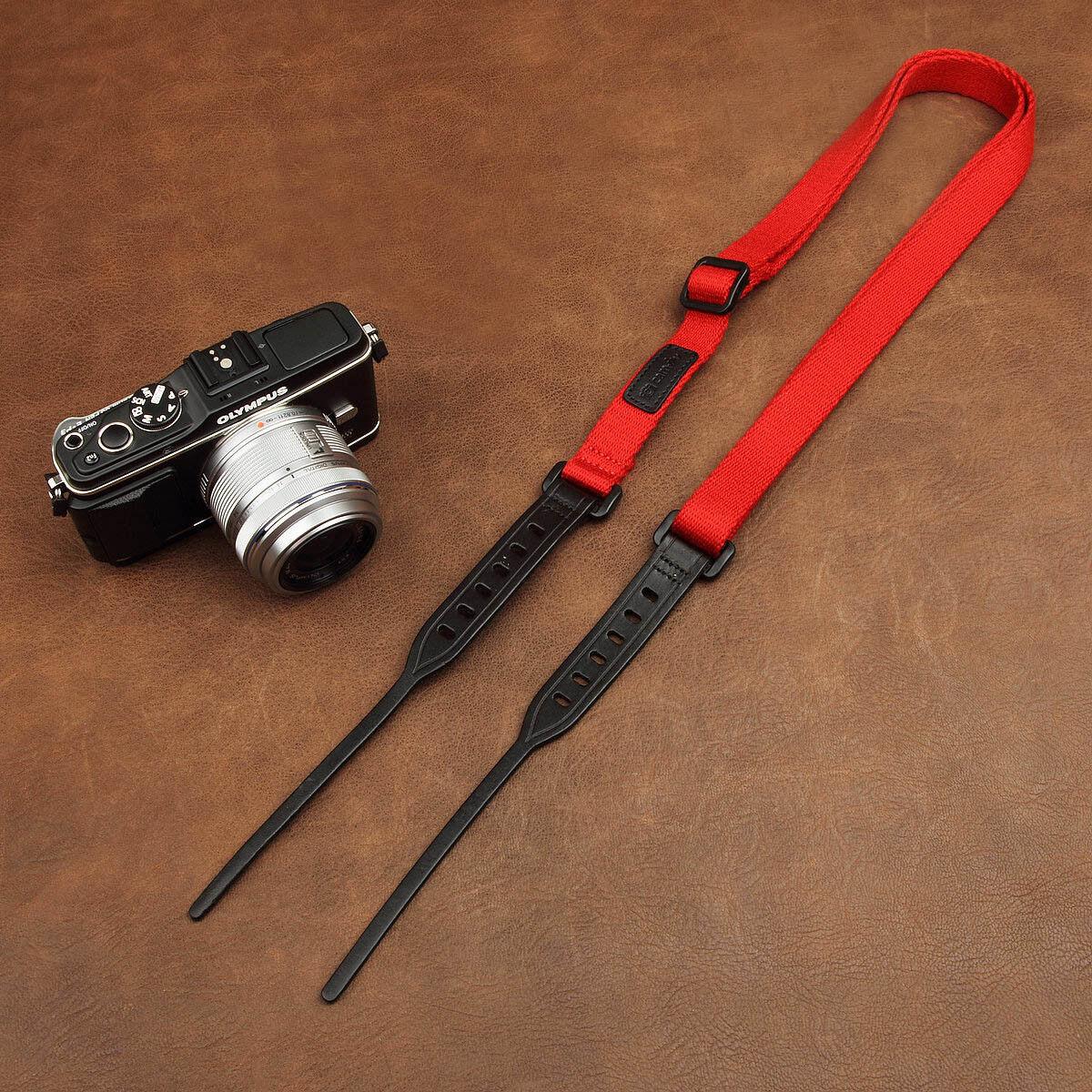 Adjustable Cam-in Camera Leather cotton Shoulder Neck Strap