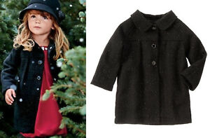 NWT-Gymboree-Holiday-Dress-Wool-Coat-2T-3T-4T-5T-Black-Party-Plaid-Sparkle-Girl