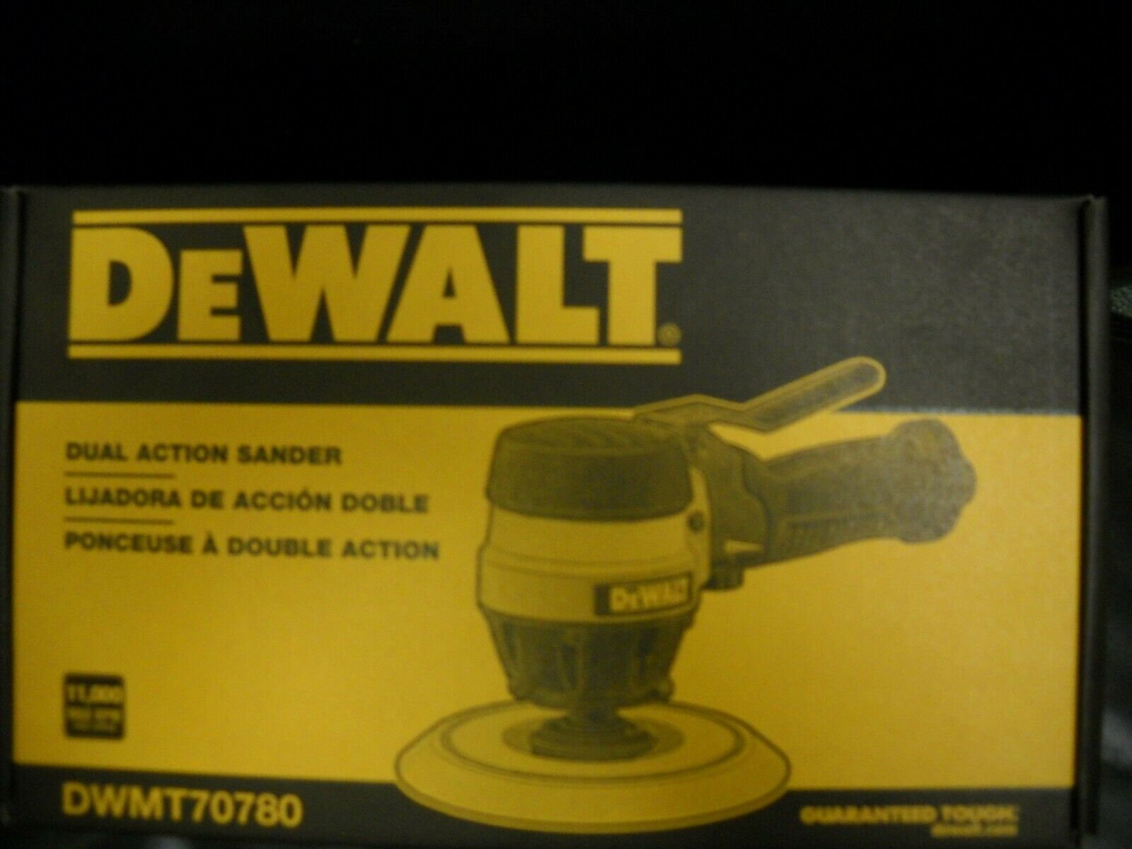 DWMT70780 scenterprises4408 DeWalt DWMT70780 6 Pneumatic Orbital Air Sander 11000 RPM Dual Action Keyless