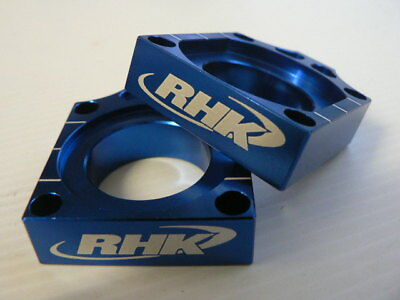 RHK MX AXLE BLOCK KIT BLUE KAWASAKI KXF 250 450 KX250F KX450F 2004-2015 MOTO
