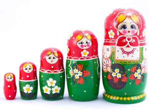 Image Is Loading Russian Nesting Doll With Floral Patterns Strawberry 5