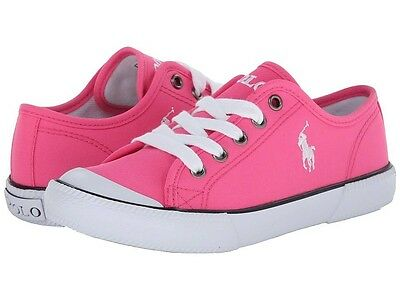 POLO RALPH LAUREN 990954C CHAZ Kids Girls Pink Casual Fashion Shoes Sneakers
