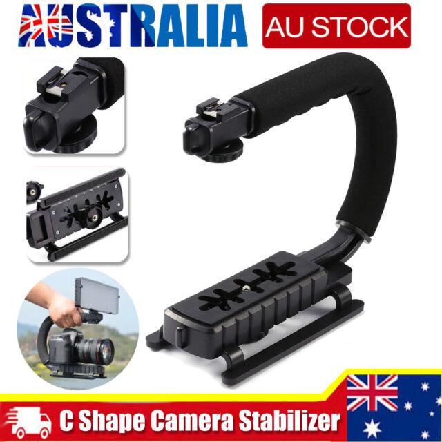 C/U Shape Bracket Handheld Grip Stabilizer Holder For DSLR Camera Camcorder AU #
