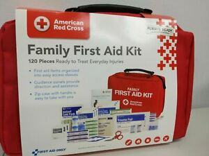 New/Sealed American Red Cross Family First Aid Kit, 120 Piece, New/OPEN
