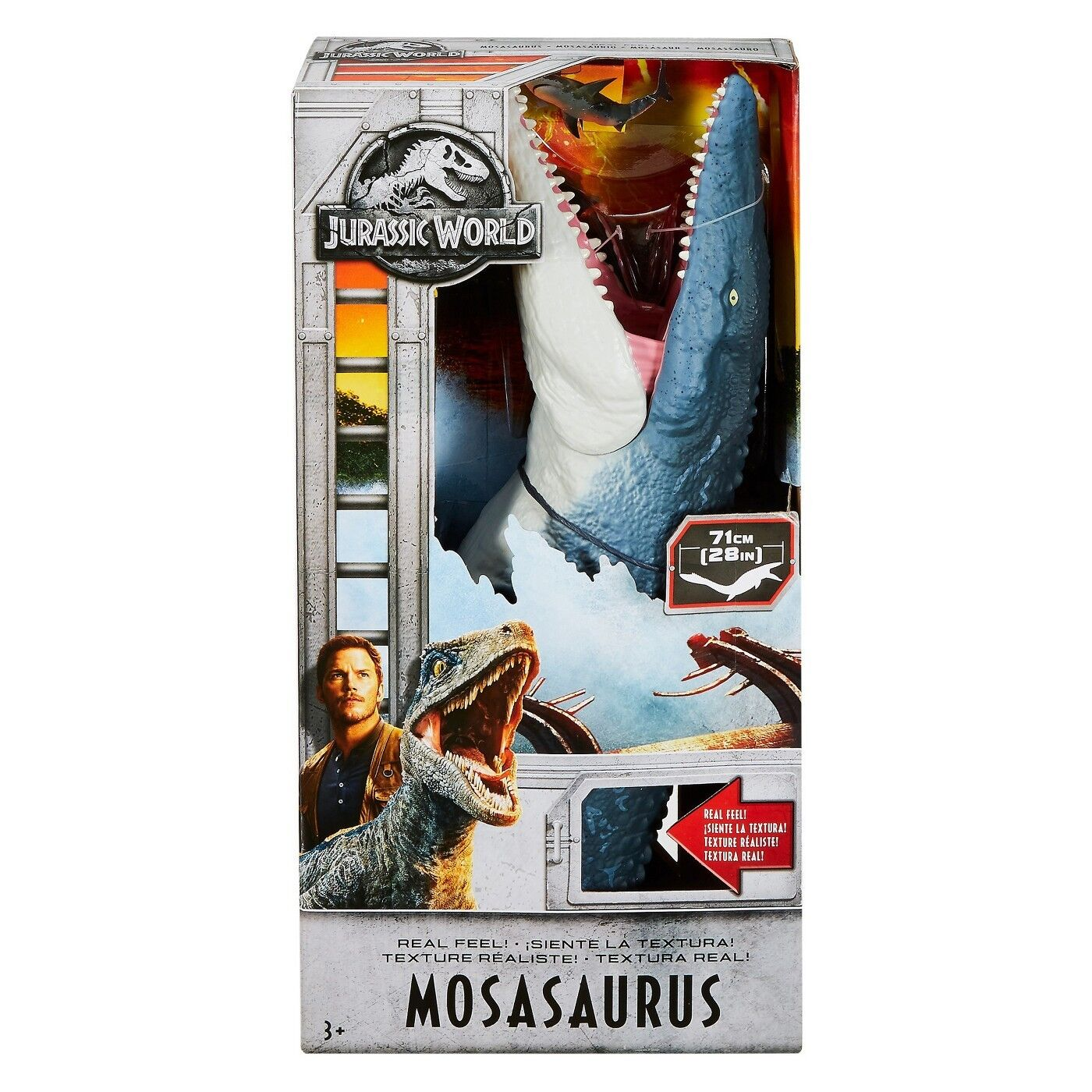 Jurassic World REAL FEEL MOSASAURUS FIGURE FALLEN KINGDOM