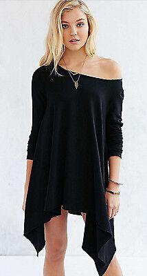 Fashion Women Long Sleeve Shirt Casual Off Shoulder Blouse Loose Tops T Shirt